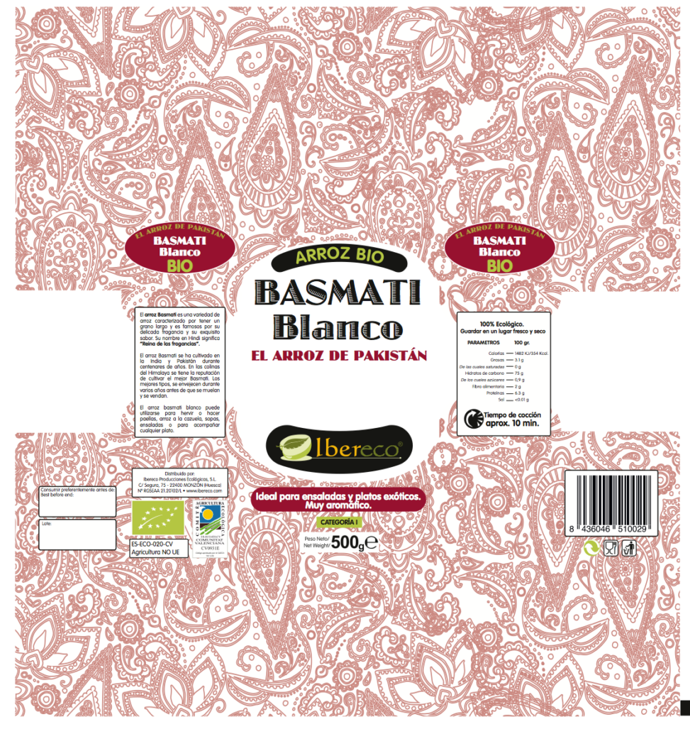 PACKAGING Arroz Basmati Blanco