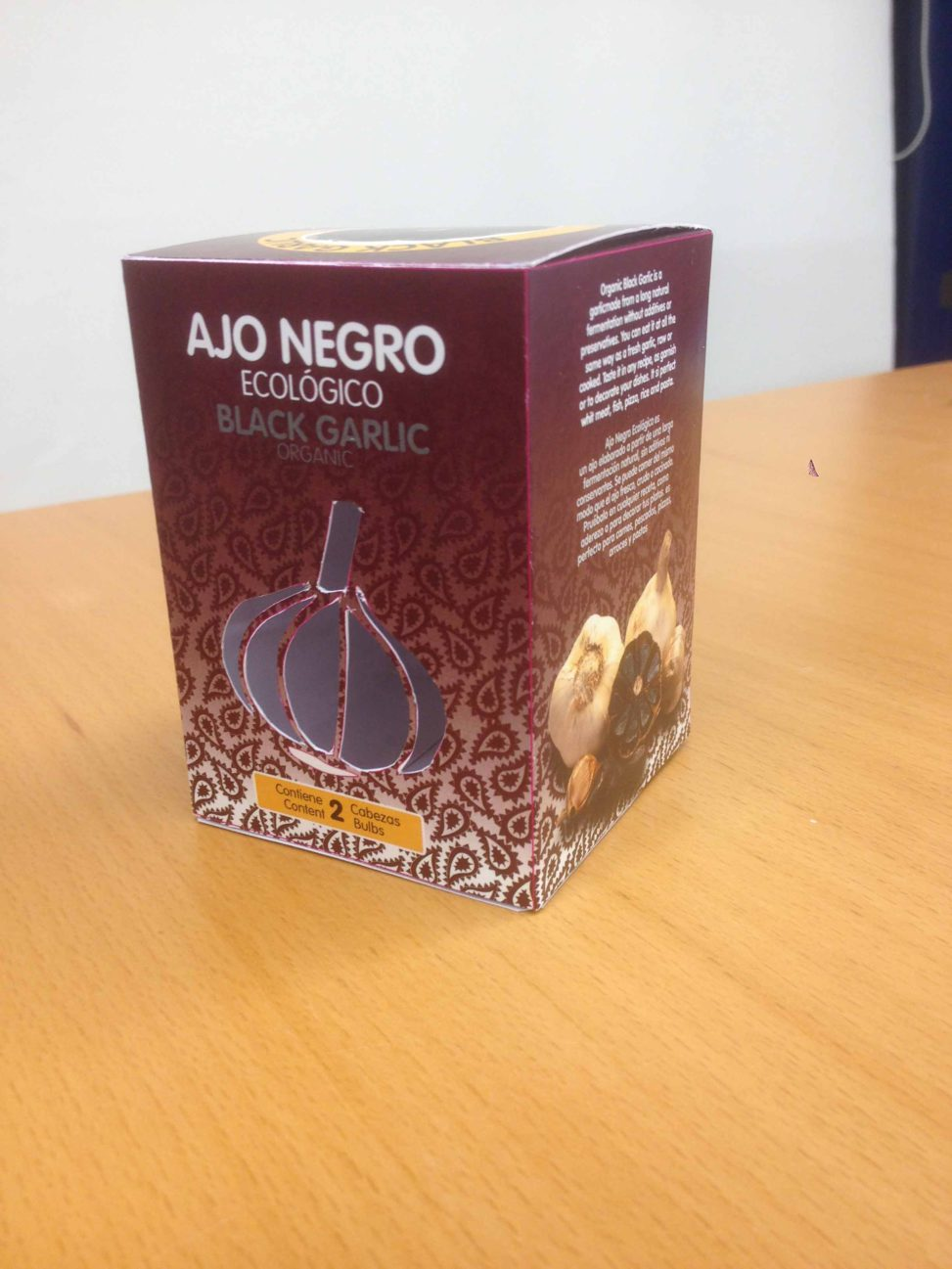 PACKAGING Ajo negro